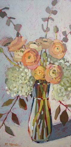 Love Is by Melanie Morris (melaniemorrisart) Art Aquarelle, Watercolor Art, Painting Inspiration, Art Inspo, Painting Workshop, Abstract Flowers, Acrylic Flowers, Arte Floral, Flower Art