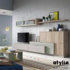 Meuble TV design mural Chani ATYLIA Editions
