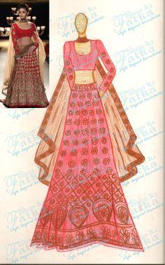 Alia Bhatt Red Lehenga Choli At India Couture Week 2014