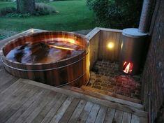 Garden Design - New ideas Hot Tub Backyard, Hot Tub Garden, Jacuzzi Outdoor, Outdoor Baths, Small Tropical Gardens, Sauna Design, Natural Swimming Pools, Natural Pools, Small Pools