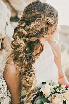 braided wedding hair ideas hair and make up by steph - Deer Pearl Flowers / http://www.deerpearlflowers.com/wedding-hairstyle-inspiration/braided-wedding-hair-ideas-hair-and-make-up-by-steph/