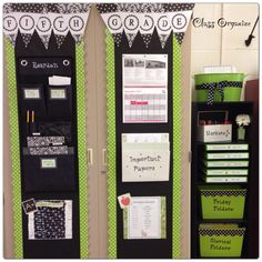 Green & Black for teacher organization