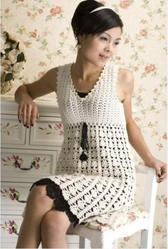 Crochet spring and summer dress ♥LCD♥ with diagrams