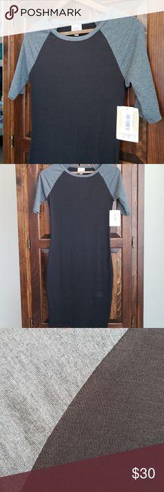 932fe9a4be6b8 LuLaRoe Julia Raglan Sleeve Dress Size XXS LuLaRoe Julia dress with black  body and gray raglan