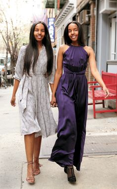 """After escaping the civil was in Somalia, the twin sisters, Ayaan and Idyl relocated to Washington, D.C. They embarked upon their career in the fashion industry by creating a multicultural fashion label - Mataano (which means twins in Somalia). Their premier collection debuted in Spring 2009. Oprah Winfrey invited the twins via Skype on her show titled """"Young Millionaire Moguls."""