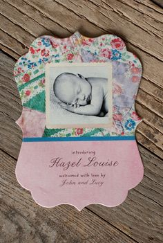 love this birth announcement!  i'd totally recreate this if we had another girl!