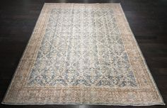 """North Pole"" 7'X9'10"" Vintage Distressed Turkish Oushak Rug"