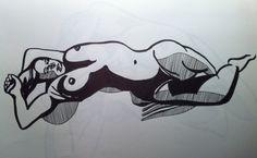 A pen 1/2 hour life drawing -Tanner Street, London Bridge