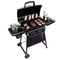 Gas BBQ Grill Propane Barbecue Black Outdoor Cooking Patio Backyard for sale online 3 Burner Gas Grill, Propane Gas Grill, Gas Bbq, Barbecue Grill, Grilling, Bbq Pork, Barbacoa, Fun Cooking, Outdoor Cooking