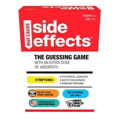 You're participating in a clinical trial study for a new drug. All you have to do is take a pill and answer some questions, but you're experiencing some SIDE EFFECTS! Play in teams. One player is the Patient, acting out side effects while getting their partner to guess a word or phrase on a Trial card. If they guess right, they keep the card, and stay in the Drug Study! Whichever team has collected the most Trial cards at the end of the game is the winner! For 4 or more players, ages 13 and…