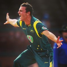 Josh Hazlewood appeals against the England Lions. Josh collected 2-23 & 1-49 against the Lions