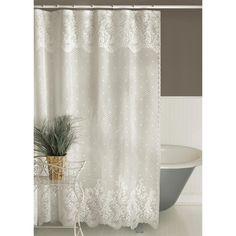 Heritage Lace Floret Lace Shower Curtain