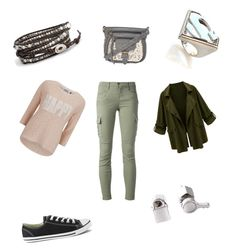 """""""Untitled #41"""" by blu3bunny12 ❤ liked on Polyvore featuring ONLY, J Brand, Chan Luu, Converse, Noir and Marc by Marc Jacobs"""