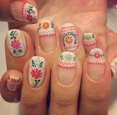 10+ Embroidery Folk Art Nails 2018 the Best style - Reny styles