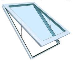 Skylight Sky Light Window ( Manual Venting ), Tempered Glass, 22-1/2-Inch x 46-1/2-Inch