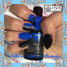 #inklondonilac #inklondonnails #acrylicnails #acrylink #gelpolish #blueblacknails