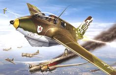 Me-163 atacan una formación de B-17. Más en www.elgrancapitan.org/foro