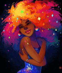 Publishing, Drawn to better, Astound. Black Love Art, Black Girl Art, Cartoon Kunst, Cartoon Art, Pretty Art, Cute Art, Arte Gcse, Illustration Inspiration, Black Girl Cartoon
