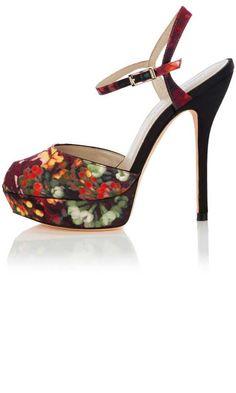 287d0efedc Karen Millen Blossom Peep Toe Pump Floral Print Shoes, Floral Prints, Peep  Toe Shoes