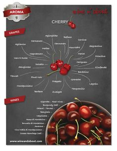 Aromas of wine : Cherry Wine Paring, Wine Varietals, Wine News, Wine Education, Wine Guide, Vitis Vinifera, Cheap Wine, In Vino Veritas, Food Science