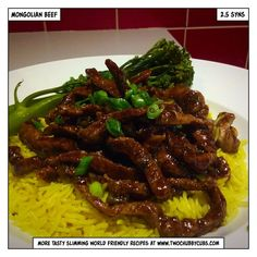 This sticky, saucy Mongolian beef recipe will hit that takeaway itch and is perfect for those on Slimming World, with it coming it at only 2.5 syns! Remember, at www.twochubbycubs... we post a new Slimming World recipe nearly every day. Our aim is good food, low in syns and served with enough laughs to make this dieting business worthwhile. Please share our recipes far and wide! We've also got a facebook group at www.facebook.com/twochubbycubs - enjoy!