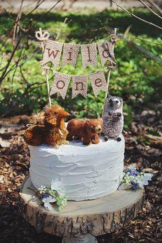 Wild One Cake Topper, Wild One Birthday, Wild One Banner, One Cake Topper, First Birthday Cake Topper, 1st Birthday, Woodland Theme Birthday