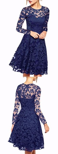 Long Sleeve Lace A Line Dress Prom Party Dresses, Homecoming Dresses, Evening Dresses, Bridesmaid Dresses, Bridesmaids, Short Shirt Dress, Lace A Line Dress, Winter Formal Dresses, Dress Clothes For Women