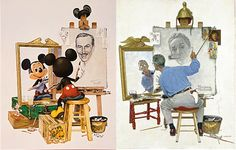 mickey painting himself | Needless to say, I now own the print.