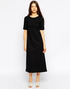 Tired Of Tokyo 3/4 Sleeve Dipped Hem Dress