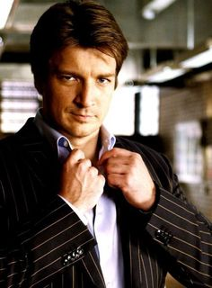 "Richard Castle - LOL ... I couldn't resist! ""I really am ruggedly handsome, aren't I?"""