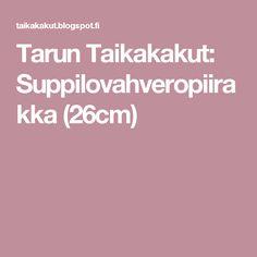 Tarun Taikakakut: Suppilovahveropiirakka (26cm)