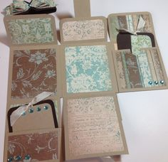 Decided to try my hand at this cute   mini album called the   One Sheet Wonder Mini Album   The You-Tube tutorial can be found here .   I'v...