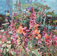Bright Flowers, Summer Flowers, Wild Flowers, May Garden, Spring Garden, Paintings I Love, Floral Paintings, Oil Paintings, Sussex Gardens