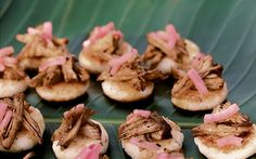 Arepas with Pulled Pork and Pickled Onion | 101 Bite-Size Party Foods