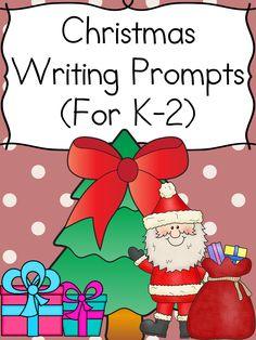 Christmas Writing Prompts Modified to work with kindergarten, and grade, these Christmas Writing Prompts will get your students thinking and writing about Christmas fun. 1st Grade Writing Prompts, Christmas Writing Prompts, Writing Prompts For Kids, Writing Promps, Writing Ideas, Kindergarten Reading Activities, Kindergarten Lesson Plans, Kids Learning Activities, Motor Activities