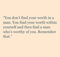 Remember that!!