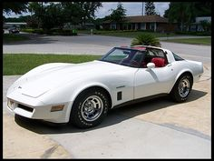 1982 Chevrolet Corvette Coupe.  I had one as a junior in High School in 1993.    Note:  it is NEVER a good idea to buy your 16 yr old daughter a corvette.  Even if in your head it is for you...