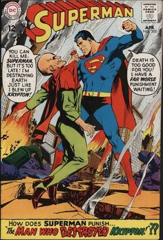 SUPERMAN #205 THE REAL DEATH OF KRYPTON. GREAT NEAL ADAMS COVER. NICE PAGES!