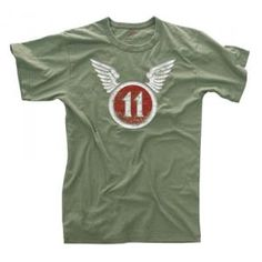 VINTAGE 11TH AIRBORNE OD T-SHIRT - SoldierCity