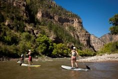 Standup paddleboarding is one of the many summer activities in Aspen. Great tips on summer in Aspen on the cheap.