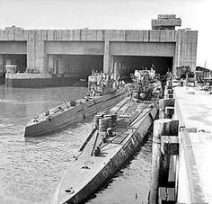 U - Boats - note the concrete pens almost impervious to allied bombs, still there today on the Atlantic seaboard of France.