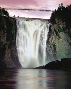 Montmorency Falls, Quebec City, Canada | #holidayspots4u - http://aiowedding.com/destination-weddings/top-10-romantic-honeymoons-in-europe