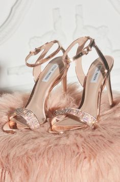 Feel Like Cinderella in Your Sparkly Wedding Shoes Rose Gold Shoes Heels, Gold Prom Shoes, Sparkly Wedding Shoes, Prom Heels, Sparkle Heels, Rose Gold Heels Wedding, Gold Sparkle, Stilettos, Stiletto Heels