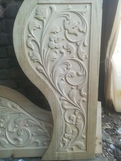 Wooden Front Door Design, Wooden Front Doors, Wood Carving Designs, Wood Carving Art, Art Carved, Wood Crafts, Texture, Furniture, Home Decor