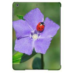 Beautiful Ladybug on Periwinkle iPad Air Case.