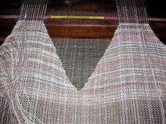 How to Weave a V neckline on the loom.