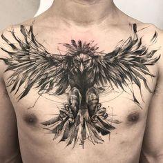 "2,902 Likes, 23 Comments - Bk_tattooer (@bk_tattooer) on Instagram: ""Harpy eagle (healed)"""