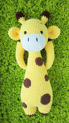 AMIGURUMI Giraffe pattern – Crochet giraffe toy PDF pattern – Knit Stuffed Toys for baby – Plush Giraffe pattern – Crochet animal pattern – Best Amigurumi Crochet Giraffe Pattern, Crochet Lovey, Crochet Teddy, Crochet Amigurumi, Crochet Animal Patterns, Plush Pattern, Kids Patterns, Stuffed Animal Patterns, Crochet Animals