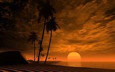 Beautiful africa sundown