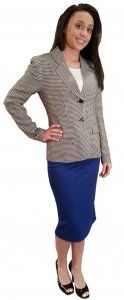 Houndstooth Jacket - $59.00 :: DCM Apparel - Modern Modest Clothing